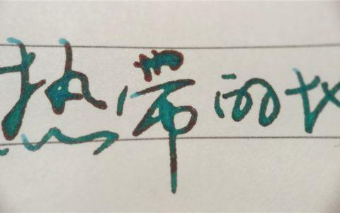百乐色彩雫彩墨试色评测(3)