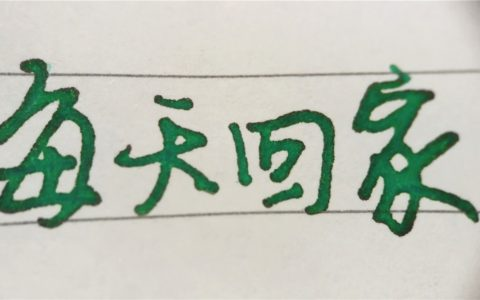 百乐色彩雫彩墨试色评测(4)