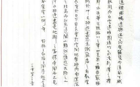 王勃《滕王阁序》选段钢笔字笔友习作欣赏