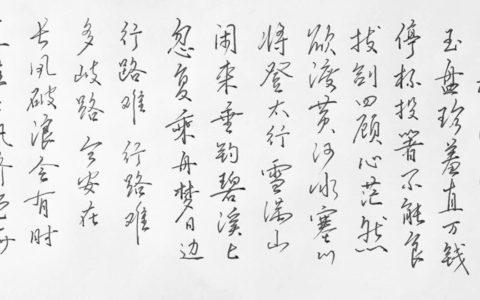 李白《行路难》其一钢笔字笔友习作欣赏