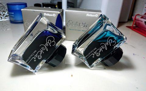 流光溢彩——百利金逸彩系列彩墨坦桑石蓝和海蓝宝石试色评测