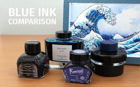市面上常见的蓝色钢笔墨水对比使用指南