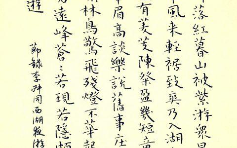 李叔同《西湖夜游记》钢笔字练习笔友钢笔书法习作欣赏