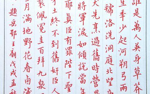 刘过《六州歌头》手写钢笔字练习笔友钢笔书法习作欣赏