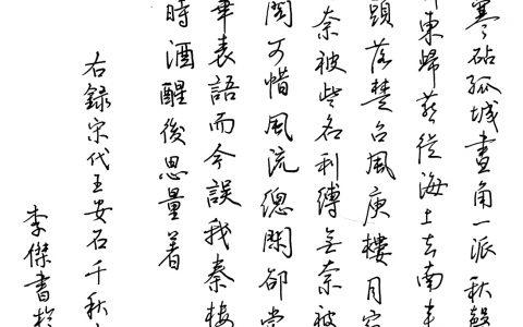 王安石《千秋岁引》每周一篇钢笔字练习笔友钢笔书法习作欣赏