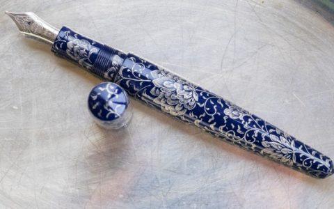 钢笔上的青花瓷-白金中屋Nakaya高级定制钢笔Housoge图赏