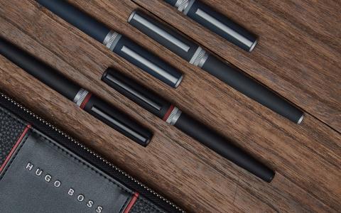 HugoBoss传动系列黑色钢笔宝珠笔免费试用评测报名