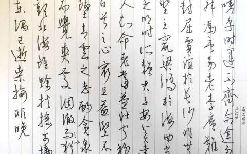 王勃《滕王阁序》每周一篇钢笔字练习笔友钢笔书法习作欣赏