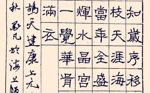 赵鼎《鹧鸪天》每周一篇钢笔字练习笔友钢笔书法习作欣赏