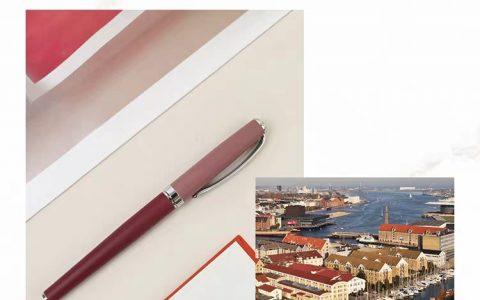 意索iPluso北欧城市系列哥本哈根红色钢笔测评