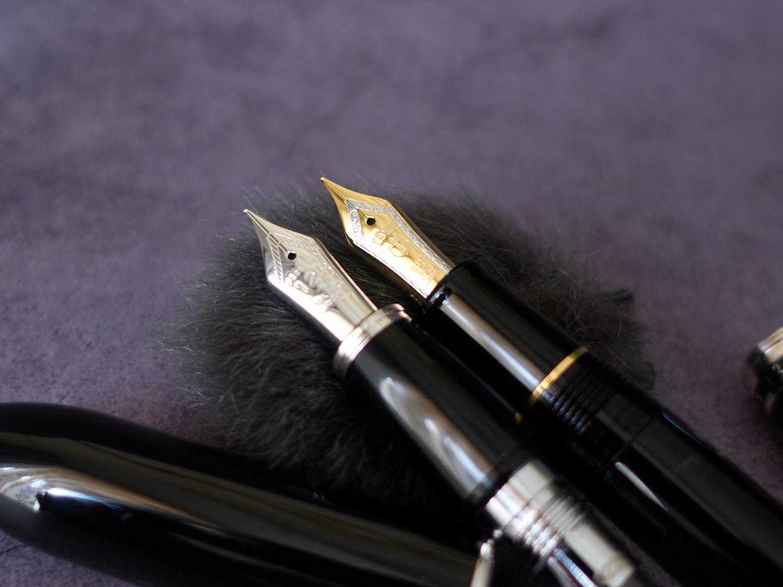 高仕名铸125镀白金笔身18K金镀铑笔尖钢笔-10