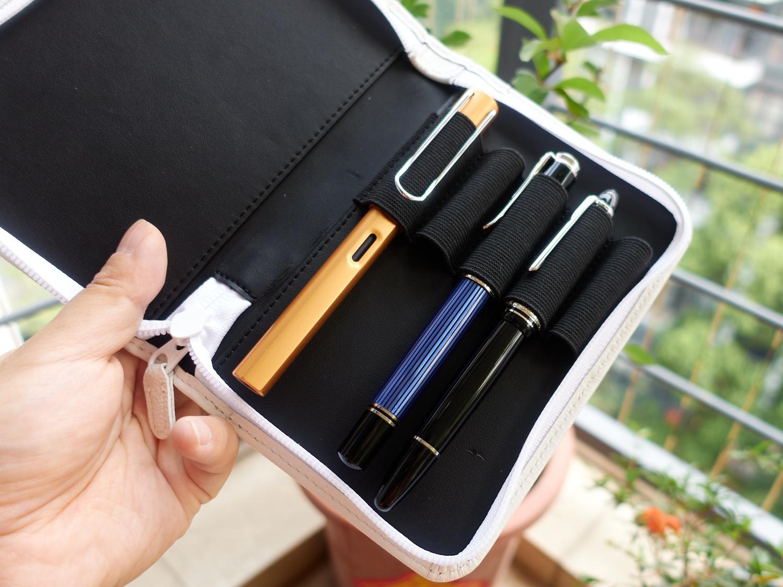 写乐真皮笔袋5支装-12