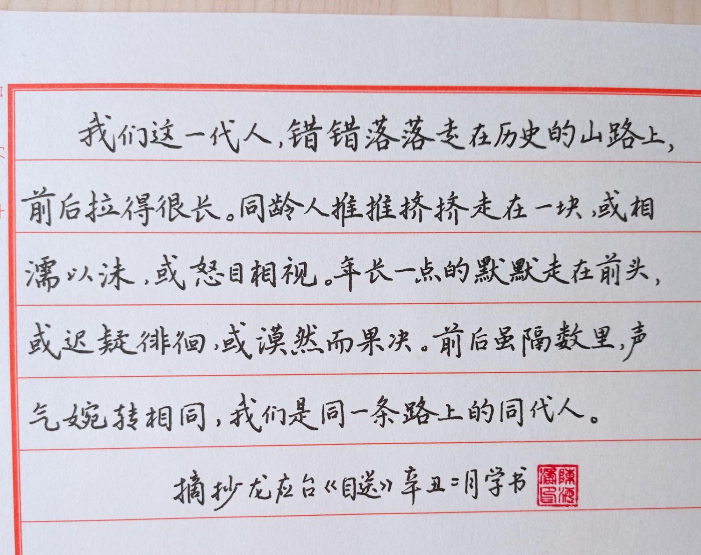 钢笔爱好者练字打卡20210316-20