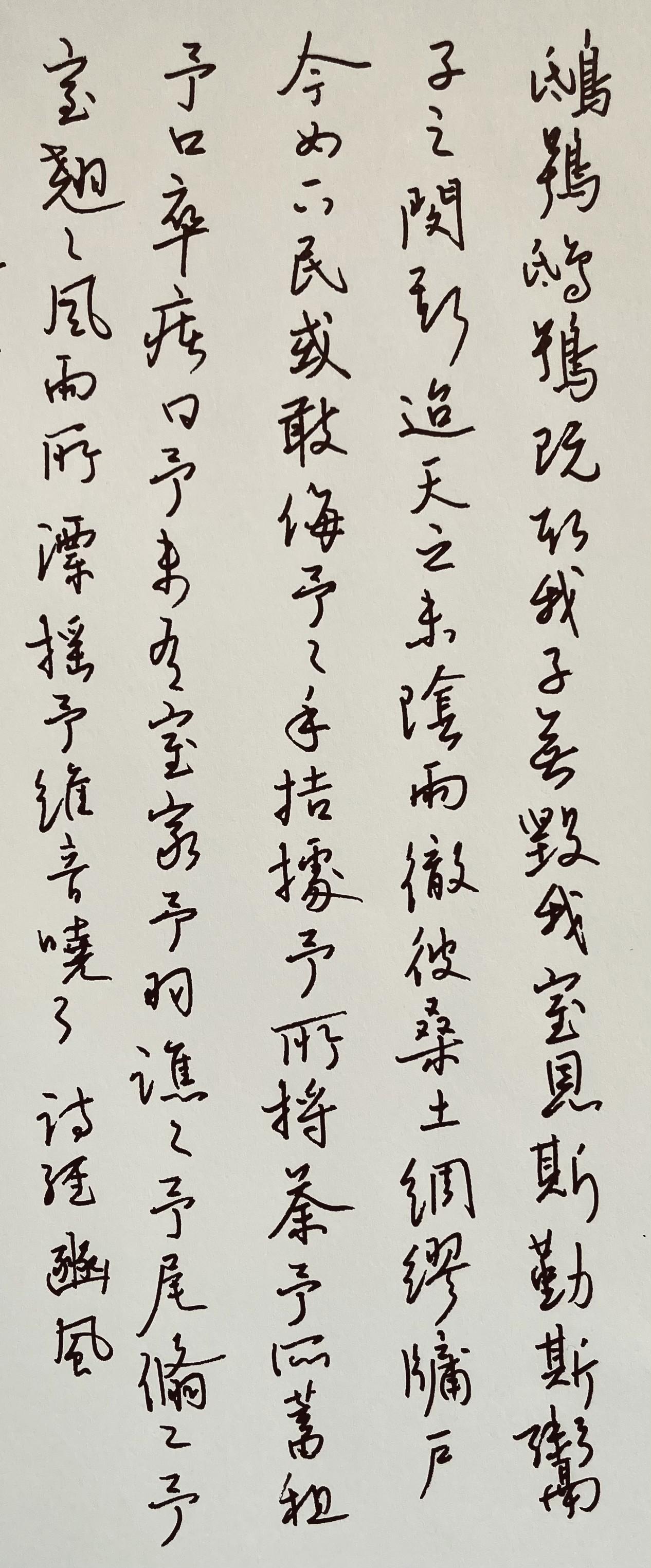 钢笔书法练字打卡20210427-05