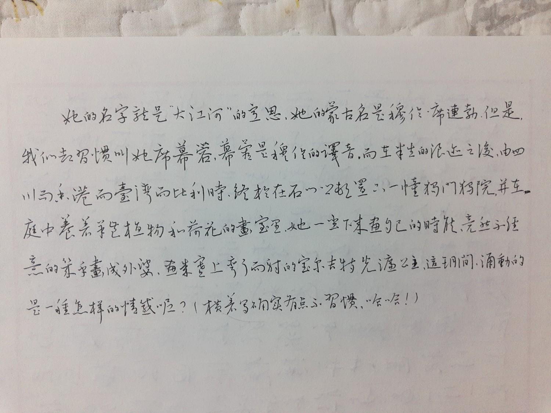 钢笔爱好者练字打卡20210420-01