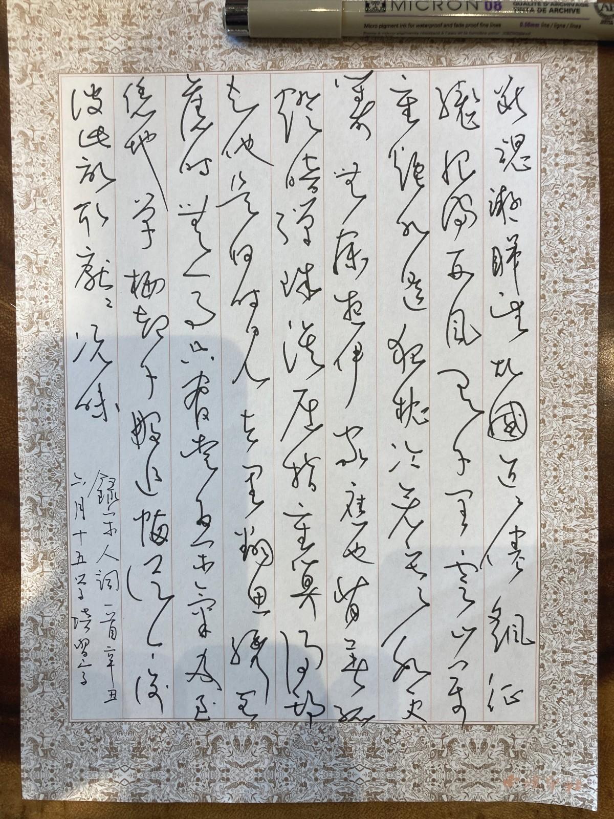 钢笔书法练字打卡20210727-19
