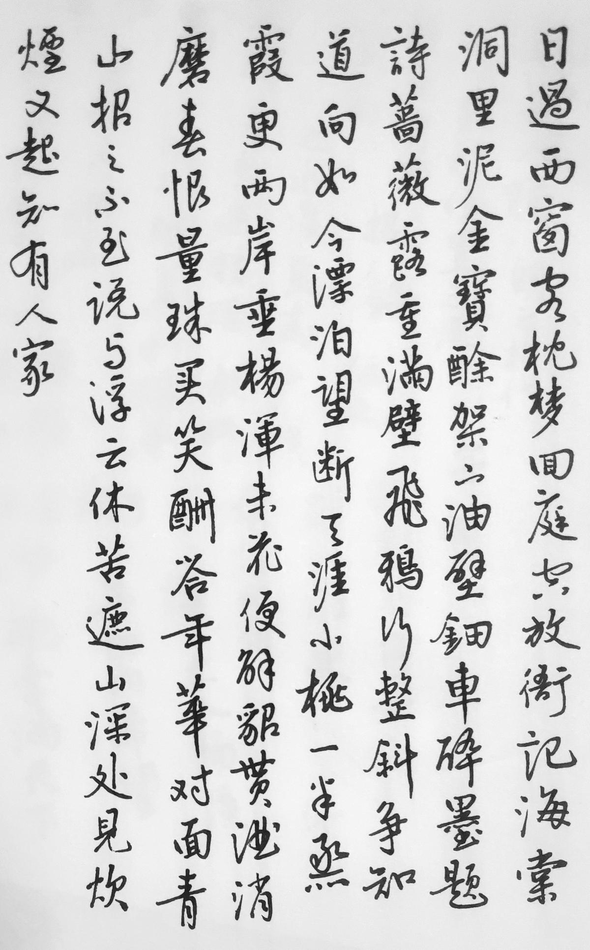蔡师点评:黄机《沁园春》钢笔字练字打卡作业欣赏03